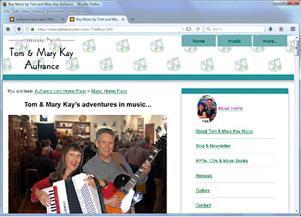 Tom & Mary Kay Aufrance music