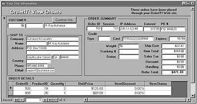 OrderIT! View Orders