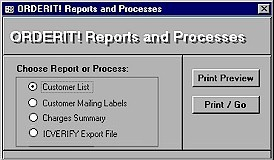 OrderIT! Reports and Functions