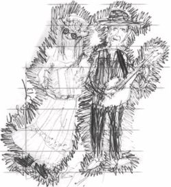 drawing of Tom and Mary Kay