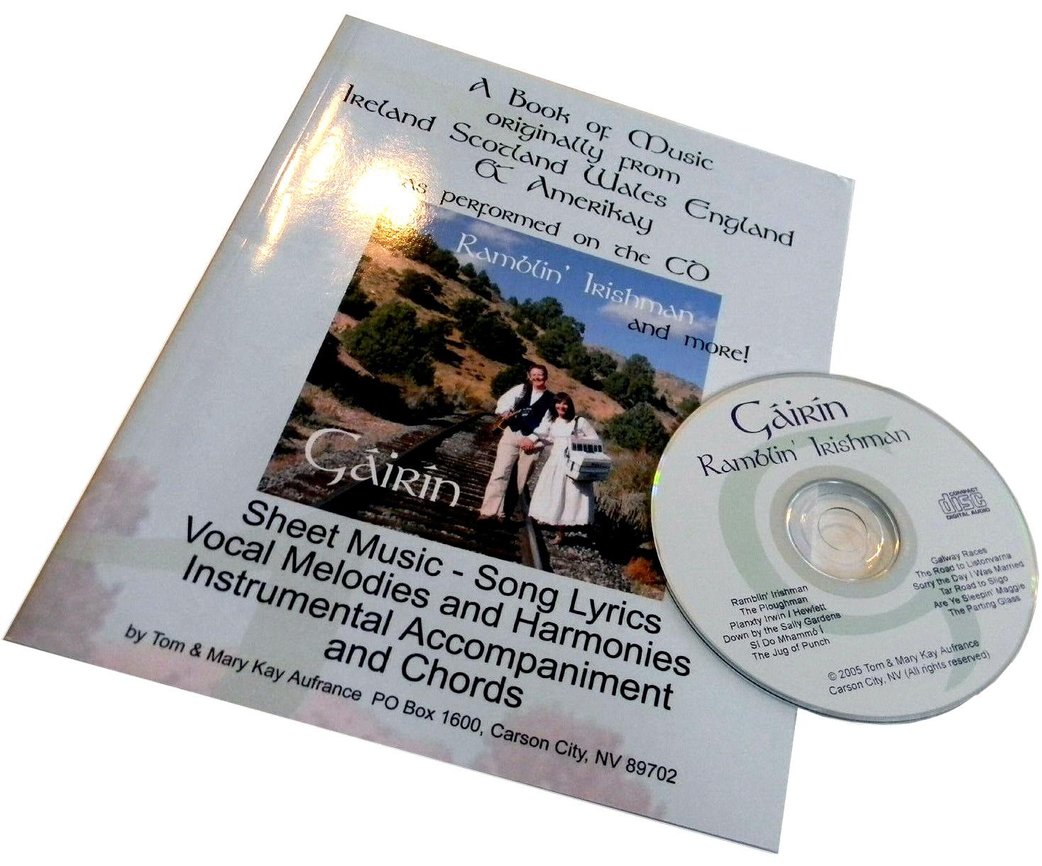 Ramblin Irishman music book and CD